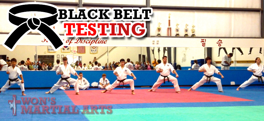 Wons Martial Arts Black Belt Testing